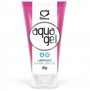 Lubrificante íntimo Aquagel beijável sabor Chiclete 60g